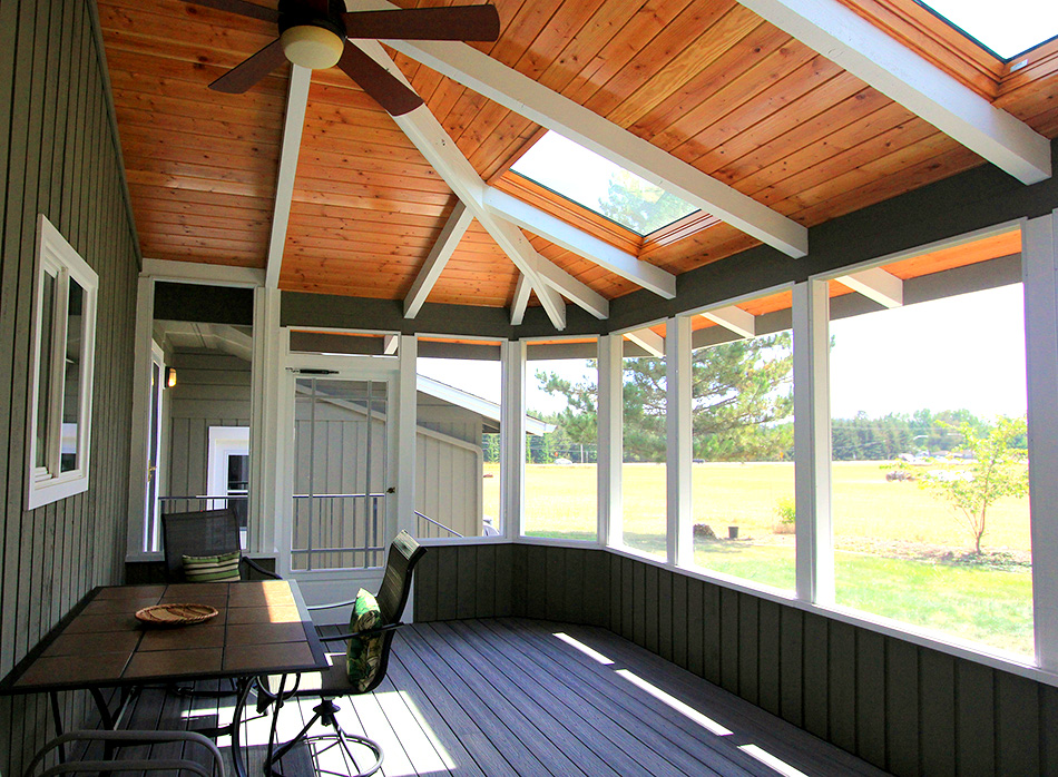 G Christianson Construction Screened Porch With Trex Decking